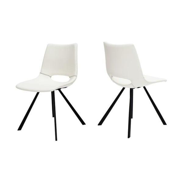 Sada 4 bielych stoličiek Canett Coronas