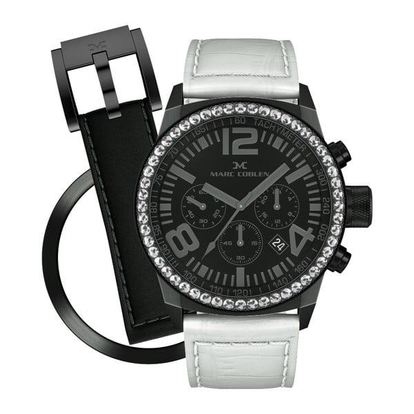 Dámske hodinky Marc Coblen s remienkom a krúžkom na ciferník naviac P48