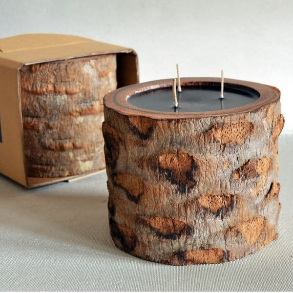 Palmová sviečka Legno Ebony s vôňou vodného kvetu, 100 hodín horenia