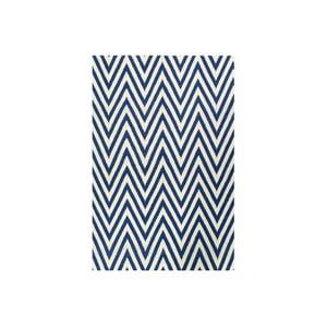 Vlnený koberec Zig Zag Dark Blue, 200x140 cm