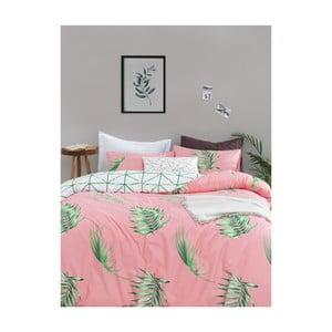 Obliečky s plachtou na dvojlôžko z ranforce bavlny Mijolnir Barbara Green, 200 × 220 cm