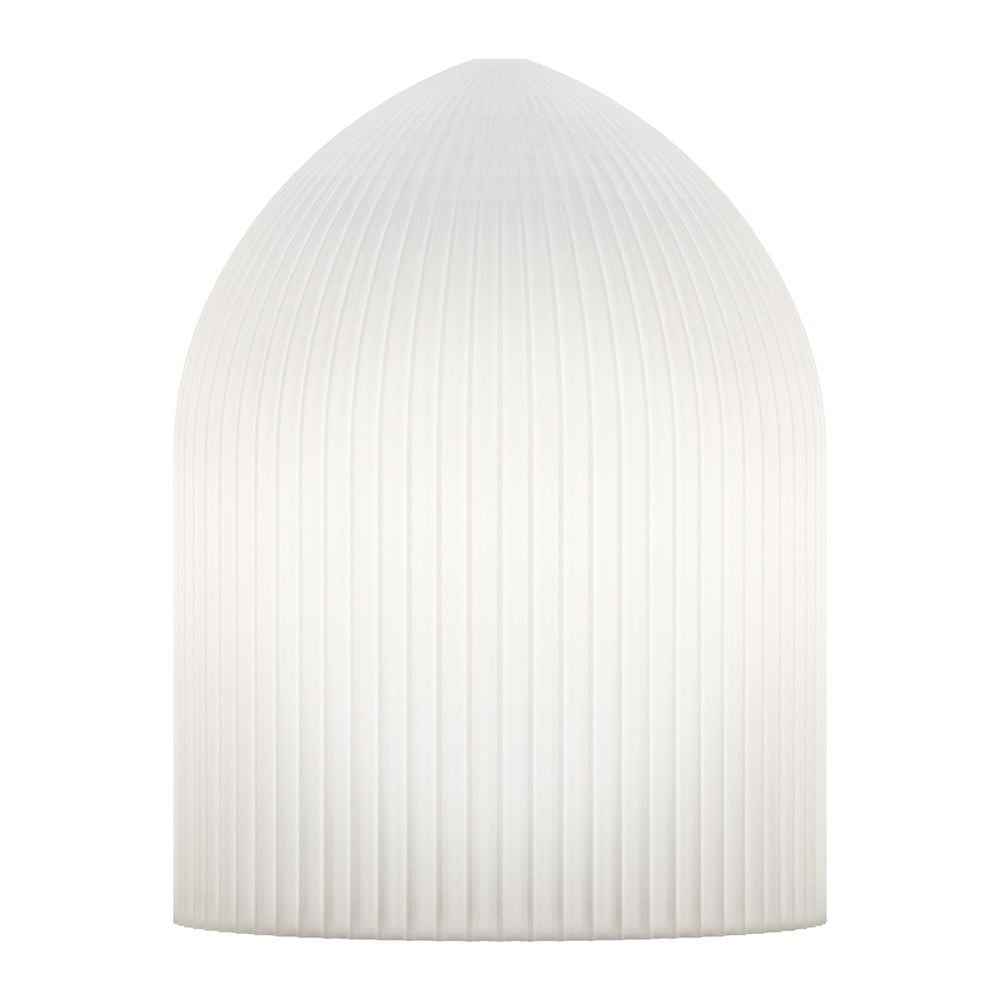 Biele stropné tienidlo VITA Copenhagen Ripples Curve, Ø 15 cm