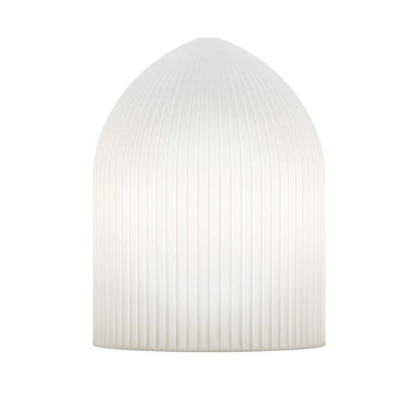 Biele stropné tienidlo VITA Copenhagen Ripples Curve, Ø15cm