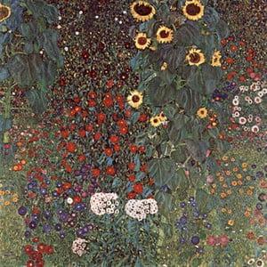 Reprodukcia obrazu Gustav Klimt - Country Garden with Sunflowers, 50x50cm