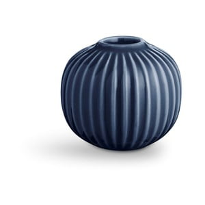 Tmavomodrý porcelánový svietnik Kähler Design Hammershoi, ⌀ 7,5 cm