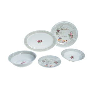 Porcelánový set Grey Ros, 20 ks