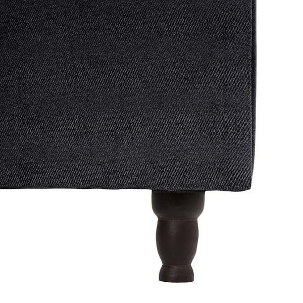 Tmavosivá posteľ s čiernymi nohami VIVONITA Allon, 180 x 200 cm