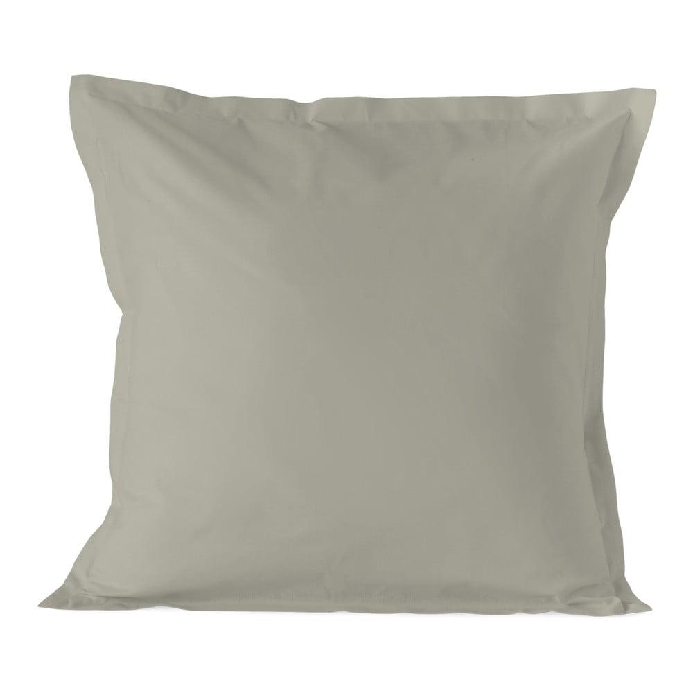 Svetlohnedá obliečka na vankúš HF Living Basic, 80 × 80 cm
