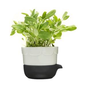 Zelený kvetináč Sagaform so zavlažovacou miskou