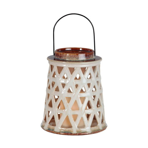 Biely keramický LED lampáš Best Season