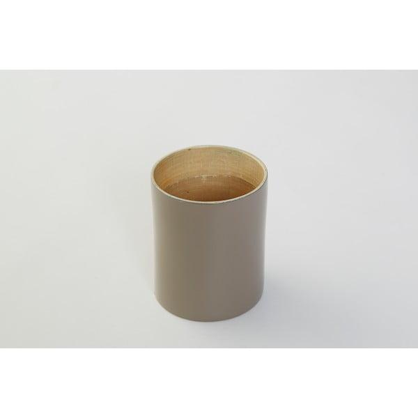 Bambusová dóza na kuchynské nástroje Bamboo Taupe, 10 cm