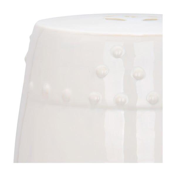 Biely keramický stolík Safavieh Mali