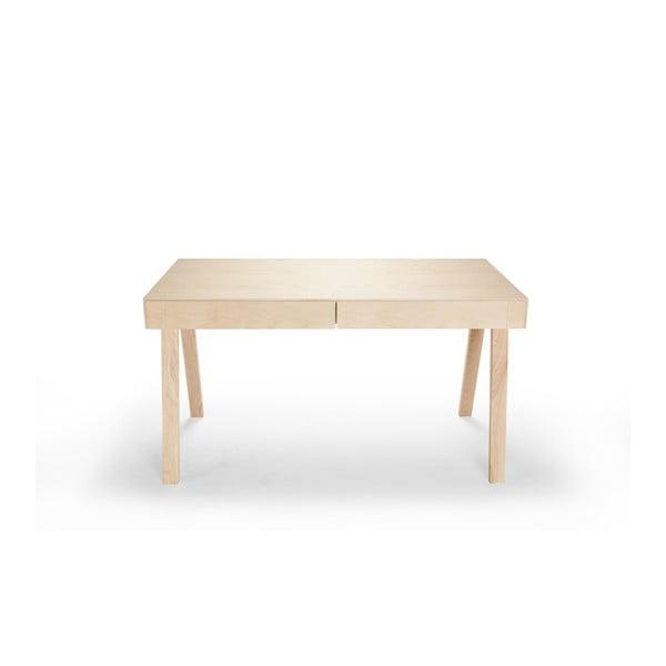 Písací stôl z európskeho jaseňa EMKO 4.9, 2 zásuvky