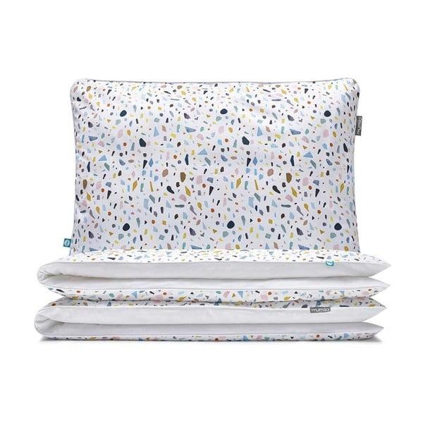 Detské bavlnené posteľné obliečky Mumla Terrazzo, 100×135 cm
