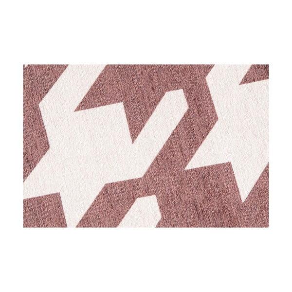 Vysokoodolný kuchynský koberec Pied de Poule Brown, 80x130 cm