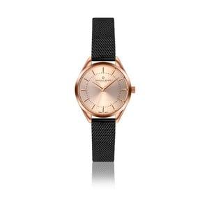 Dámske hodinky s čiernym remienkom z antikoro ocele Frederic Graff Melissa