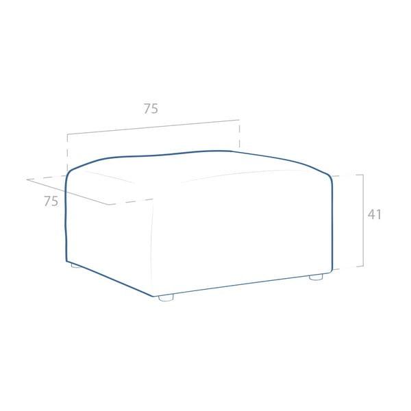 Béžová podnožka VIVONITA Cube Sawana