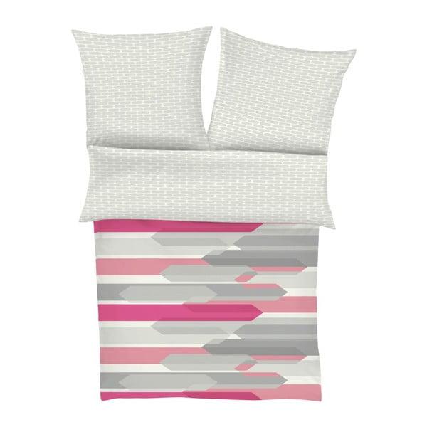 Obliečky Maco Satin Grey Stripe, 140x200 cm