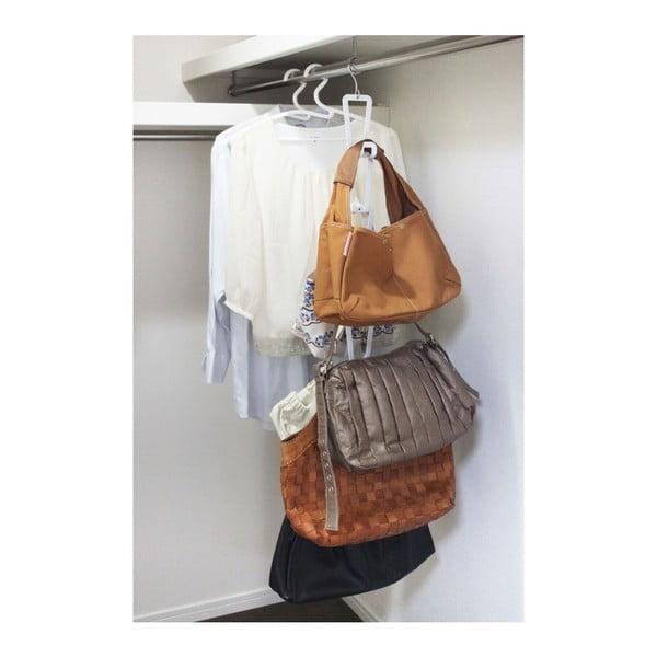 Biely vešiak na kabelky s 6 háčikmi YAMAZAKI Kanazawa