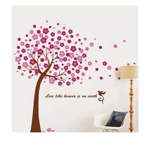Samolepka na stenu Veľký ružový strom