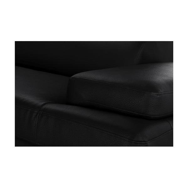 Čierna rohová pohovka Corinne Cobson Home Speakeasy, ľavý roh