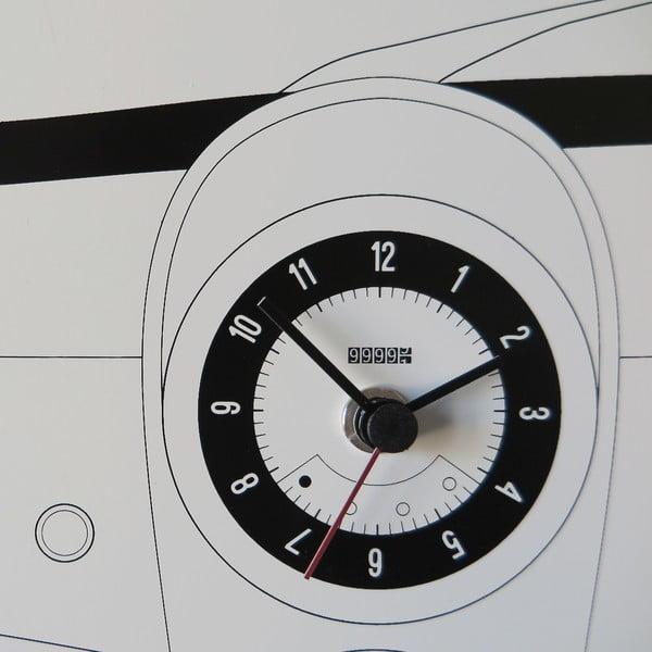 Nástennátabuľa s hodinami dESIGNoBJECT.it Cinquino, 50 x 50 cm