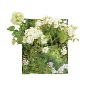 Zelená nástenná taška na kvety Esschert Design Mia