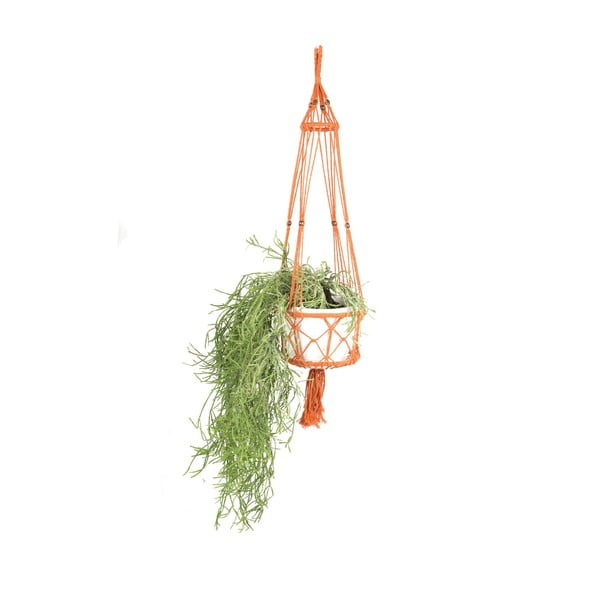 Závesný držiak na kvetináč Macrame Naranja, 25 cm