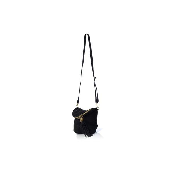 Kožená kabelka Julie, čierna