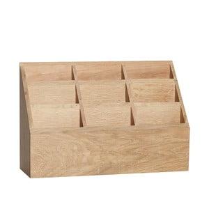 Úložný box z dubového dreva Hübsch Pattio
