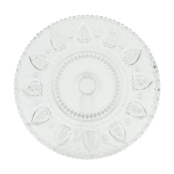 Sklenený tanier Clayre Decor, 30 cm