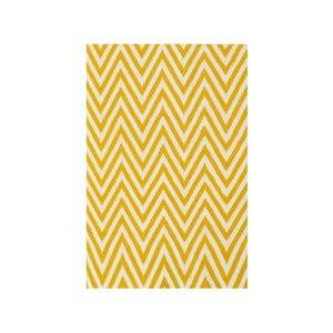 Vlnený koberec Zig Zag Yellow, 200x140cm