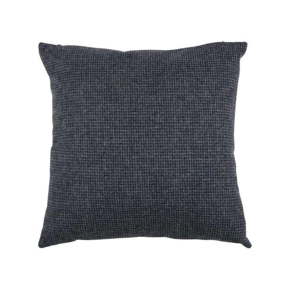 Tmavomodrý vankúš WOOOD Roan, 45 × 45 cm