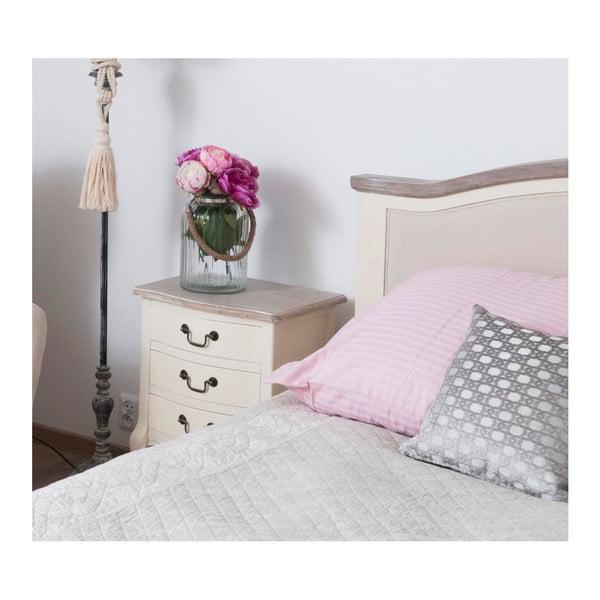 Biely nočný stolík z topoľového dreva Livin Hill Santo