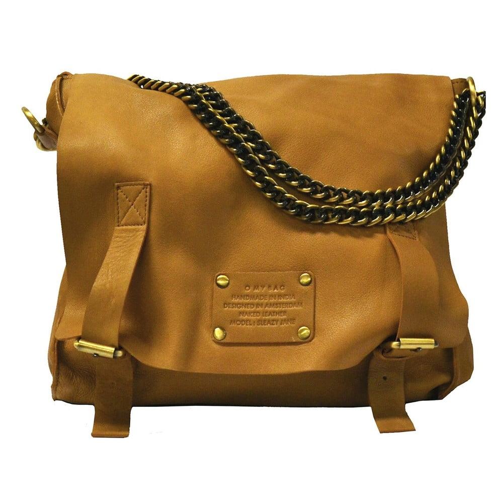 Hnedá kožená vintage taška O My Bag Sleazy Jane