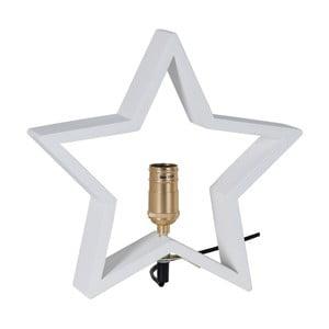Biela drevená svietiaca hviezda Best Season Lysekil, 30 x 29 cm