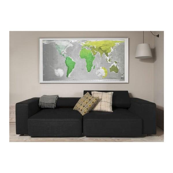 Magnetická mapa sveta Huge Future Map, 196x100 cm, zelená