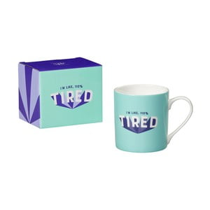 Hrnček z kostného porcelánu Yes studio Tired, 380 ml