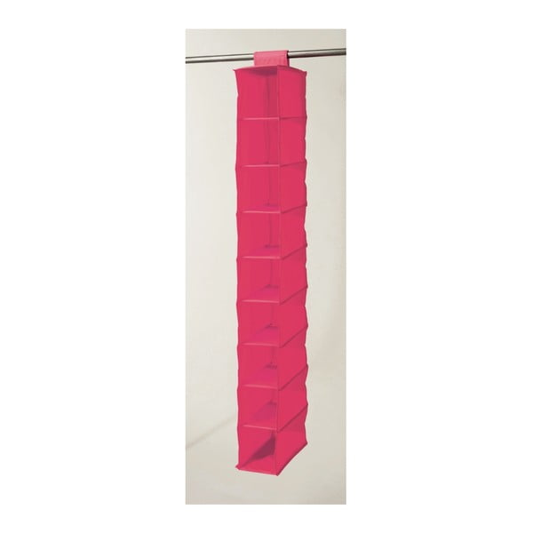 Textilný závesný organizér Compactor Garment Hot Pink 9 Rack