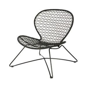 Čierna stolička De Eekhoorn Quadro