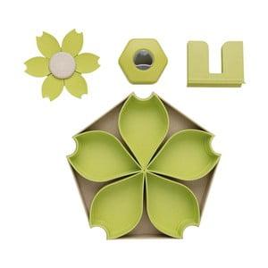 Zelený 4-dielny servírovací set XD Collection