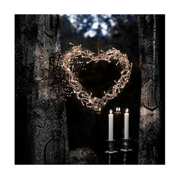 Svietiaca LED dekorácia Curly Heart