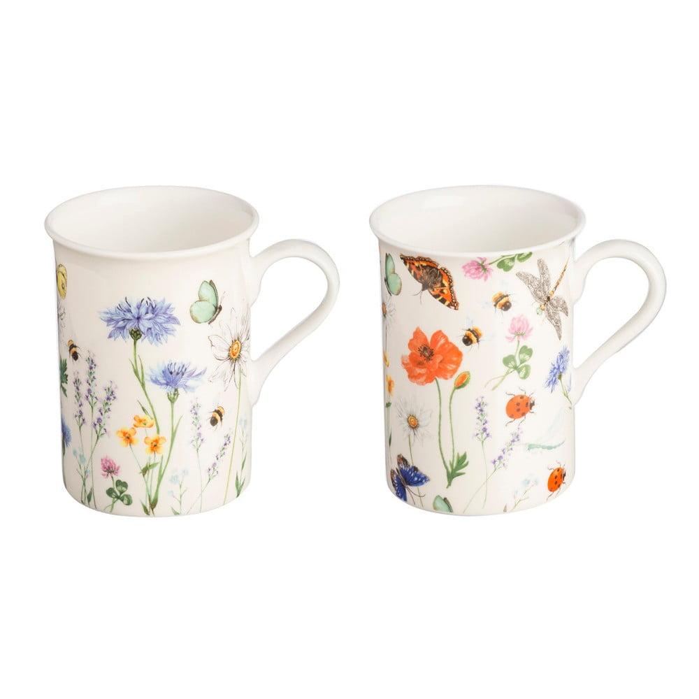 Sada 2 hrnčekov s motívom kvetín z porcelánu Price & Kensington Hedgerow, 300 ml