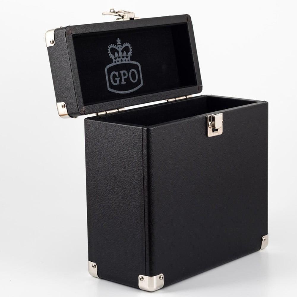 Čierny kufrík na vinylové dosky GPO Vinyl Case