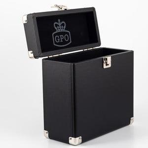 Čierny kufrík na vinylové desky GPO Vinyl Case