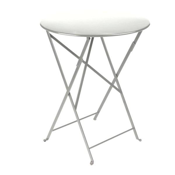 Svetlosivý skladací kovový stôl Fermob Bistro