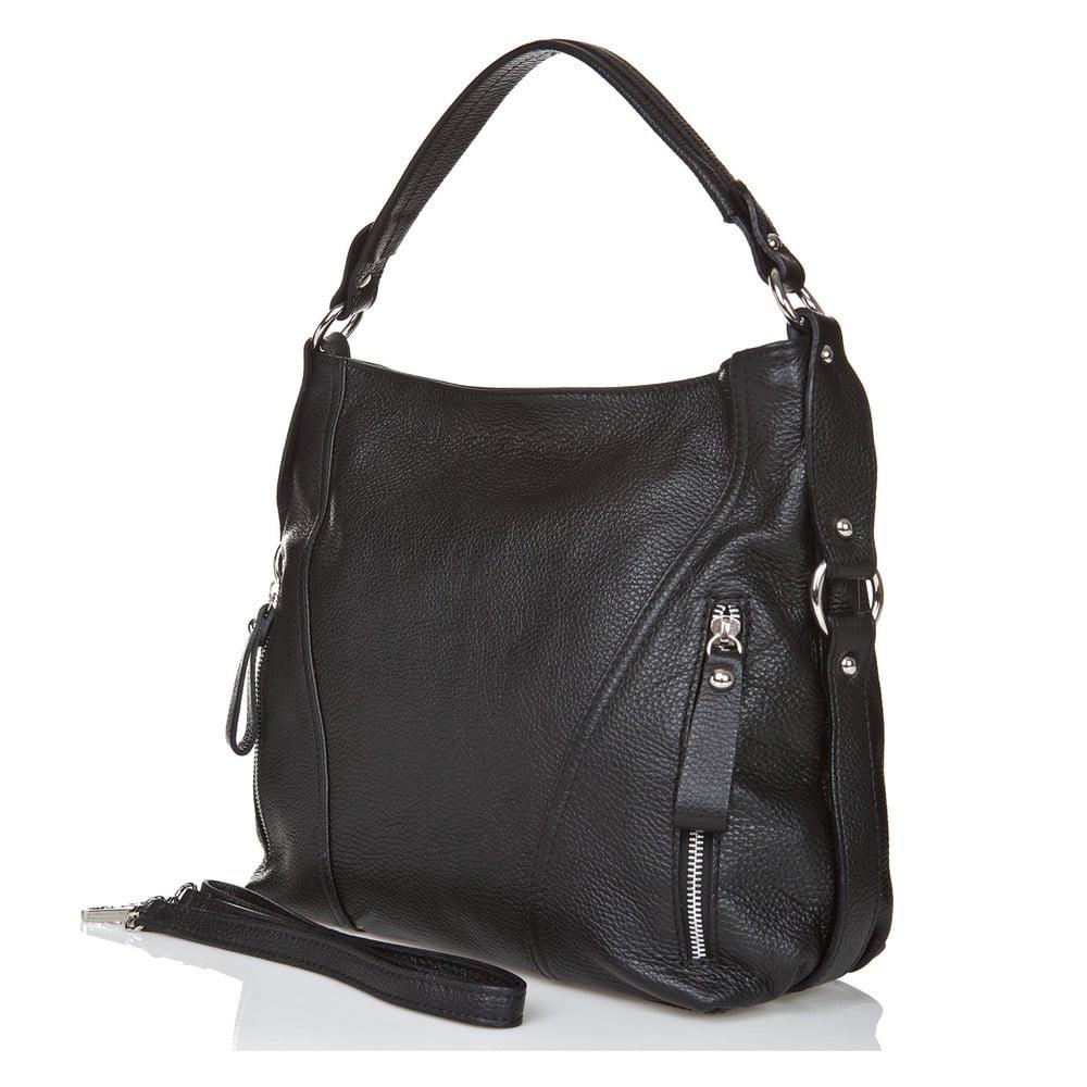 22baf0739218 ... Čierna kožená kabelka Giorgio Costa Sissala ...