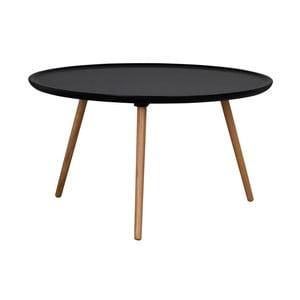 Čierny konferenčný stolík Folke Dellingr, ⌀ 80 cm