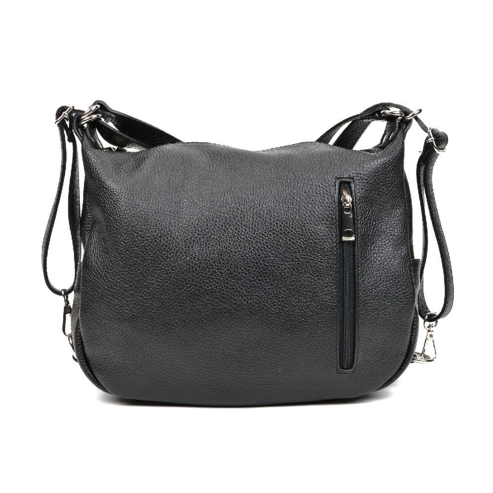 Čierna kožená kabelka Mangotti Bags Florencia