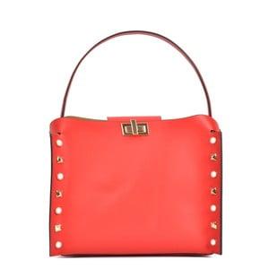 Červená kožená kabelka Sofia Cardoni